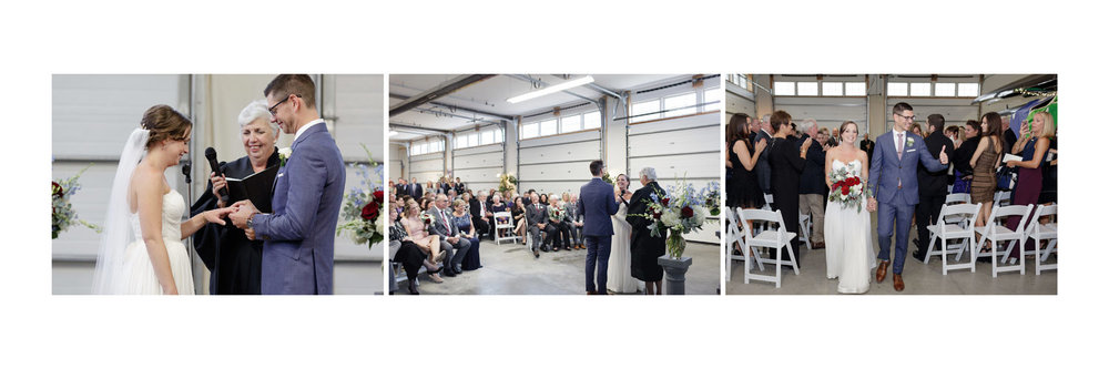 wedding album duxbury bay maritime academy wedding photographer indoor ceremony