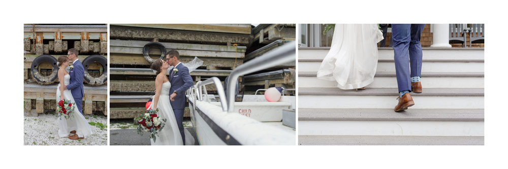 wedding album duxbury bay maritime academy wedding photographer boatyard portraits