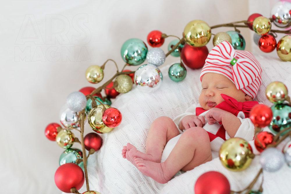 holiday baby santa hat photographer