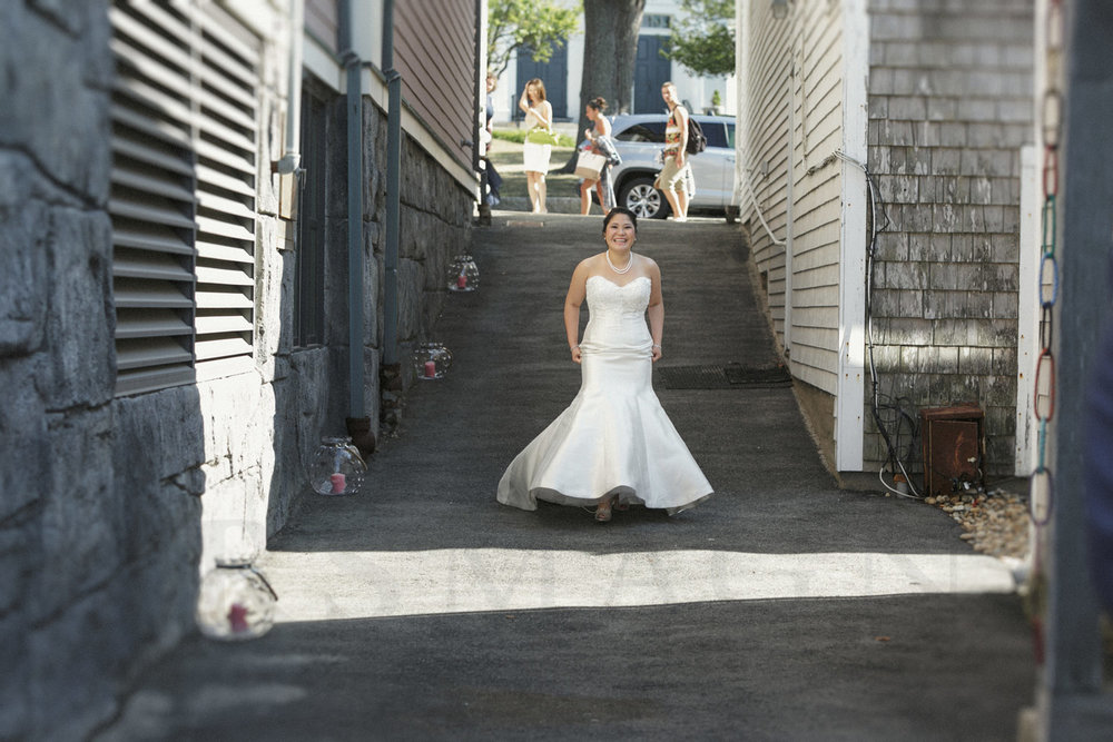 First Look Rockport wedding photography Shalin Liu Performance Center