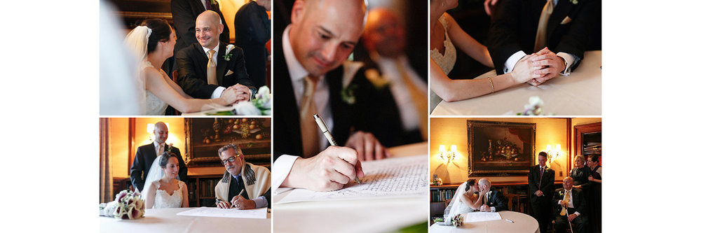 ketubah signing endicott estate jewish wedding photographer