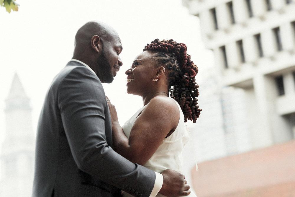 boston city hall wedding photos