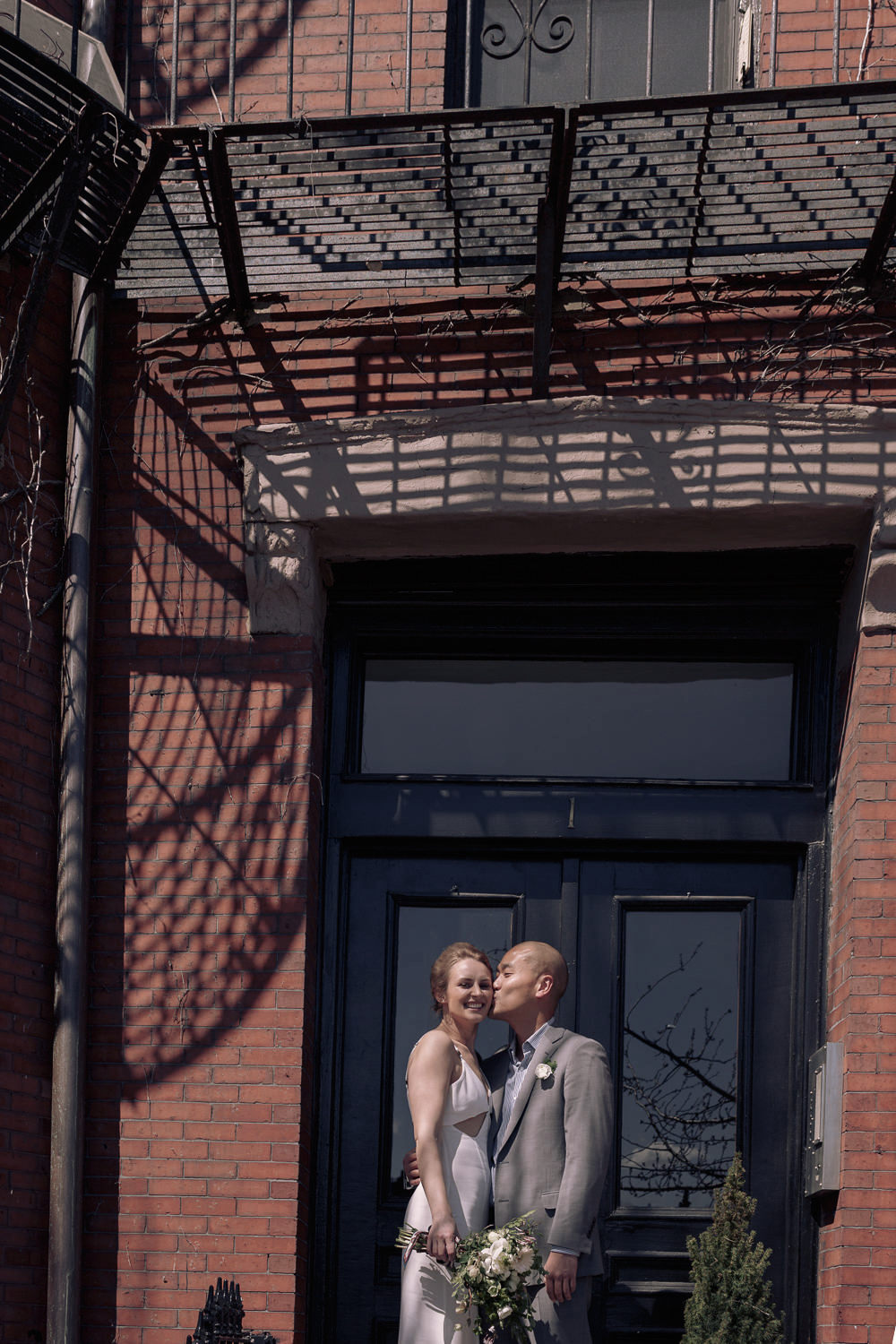 bay village boston wedding photography shadow fire escapes