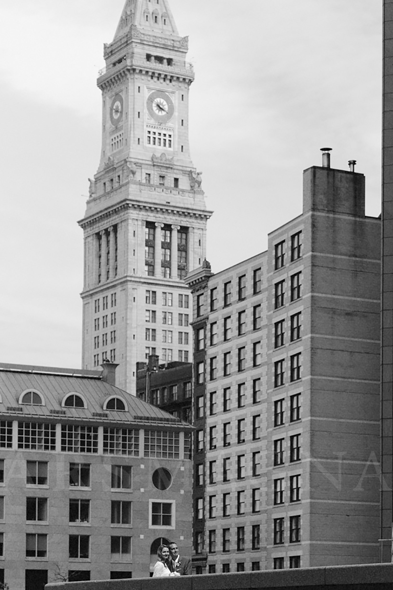 boston wedding skyline custom house tower