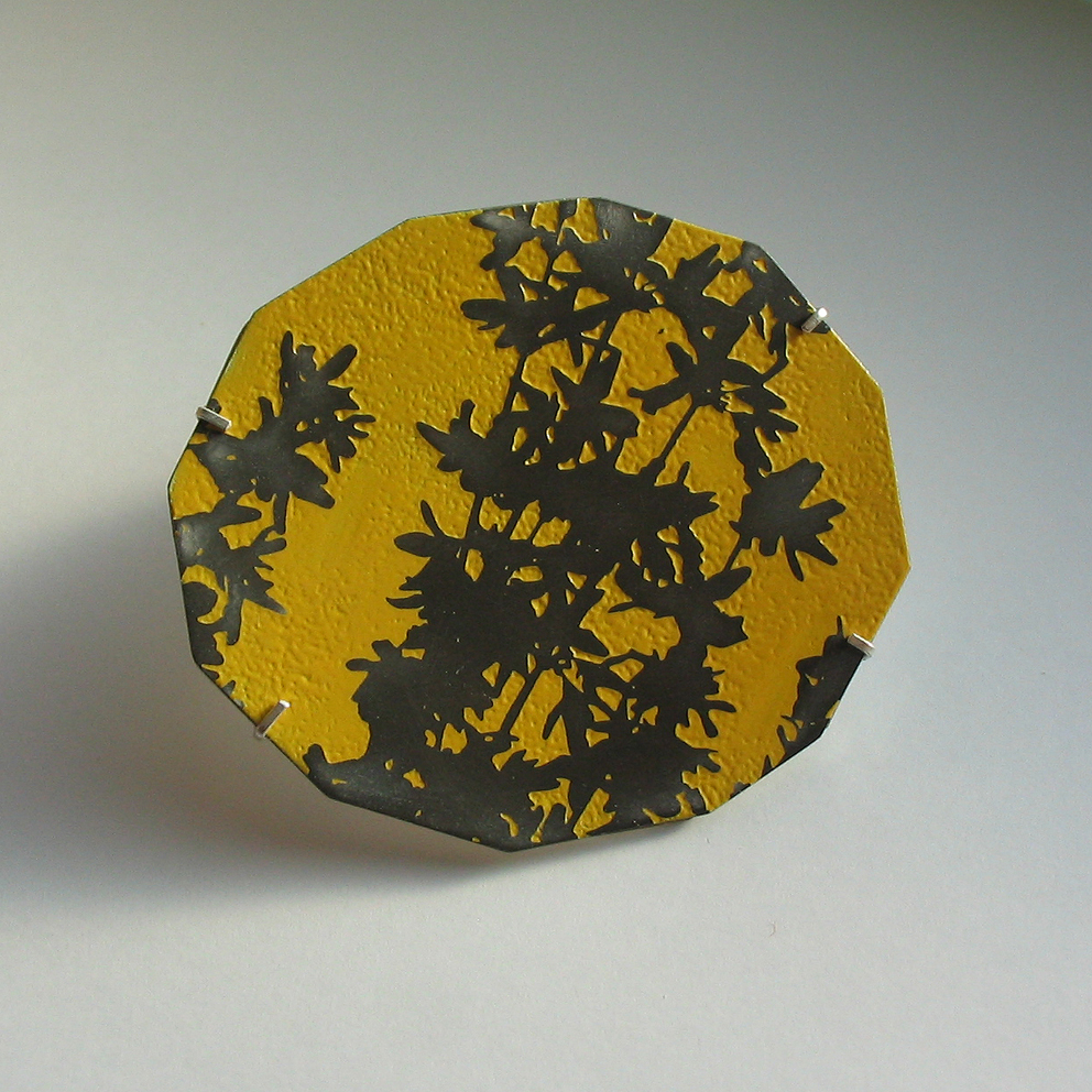 Forsythia brooch