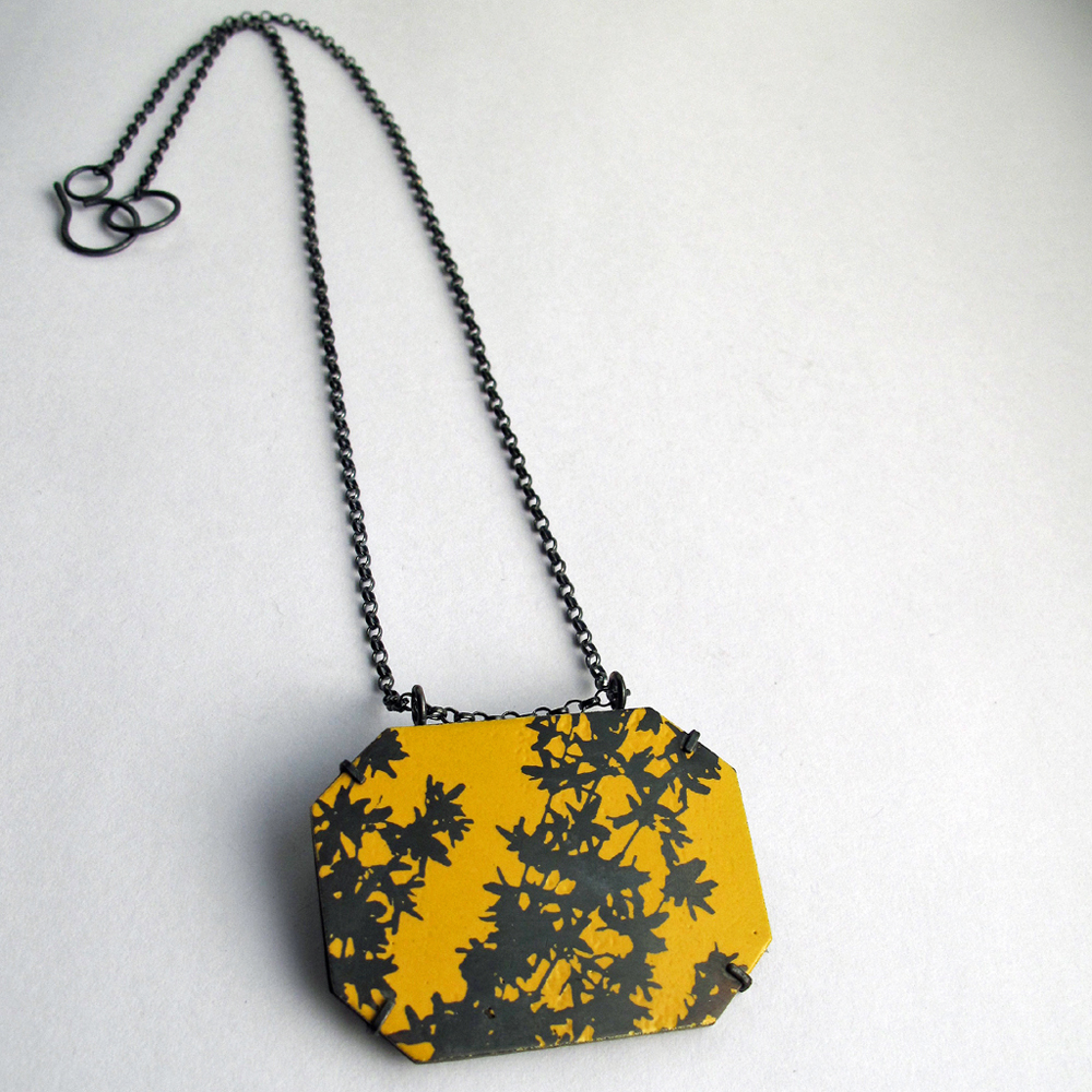 Forsythia pendant necklace