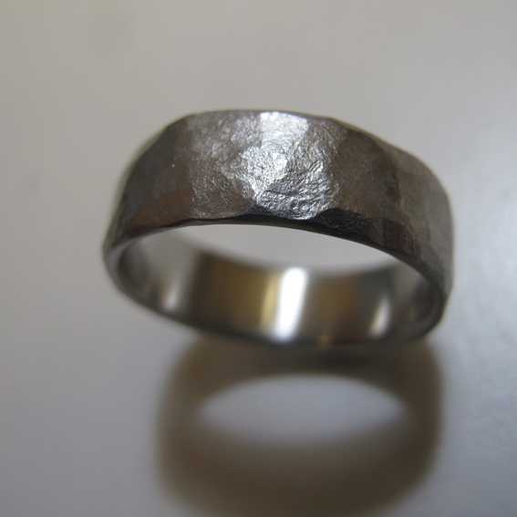 faceted ring.