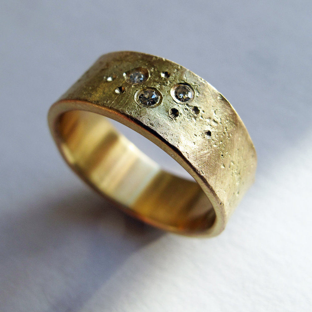 Recycled gold ring.