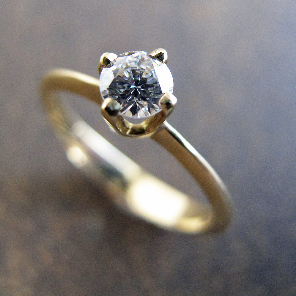 Grey diamond engagement ring.