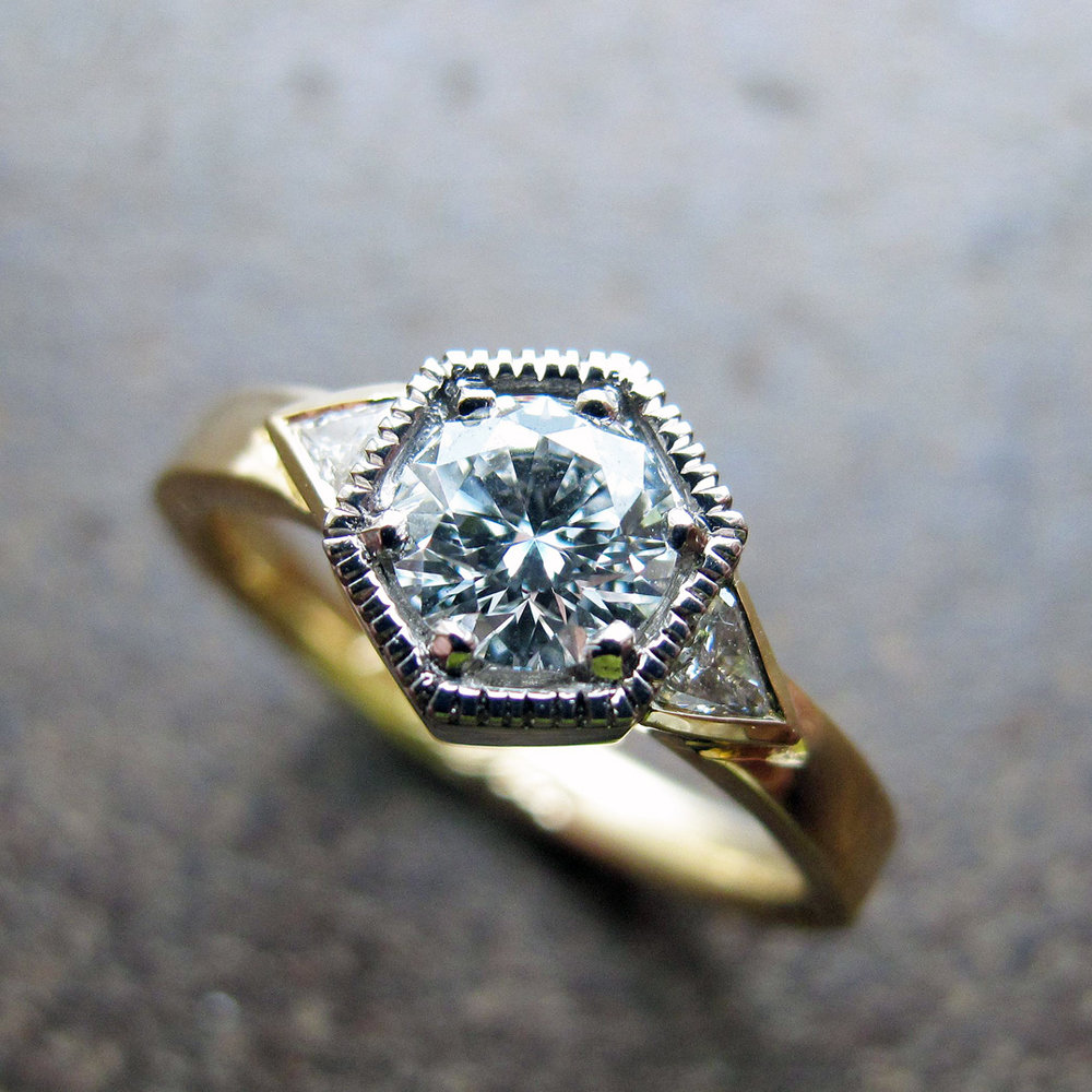 Diamond engagement ring.