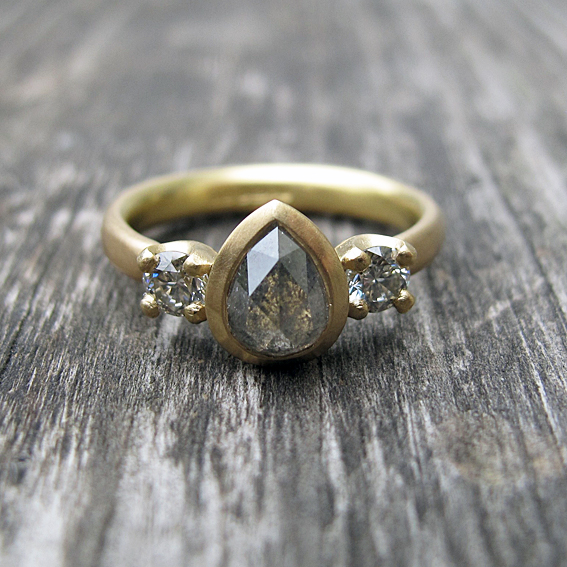 Natural diamond engagement ring.