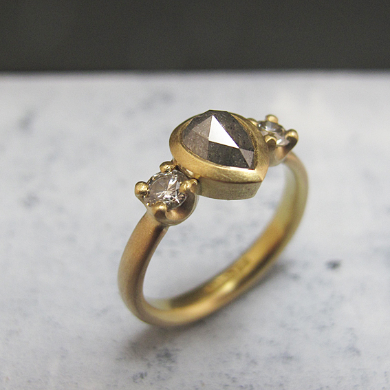 Fairtrade gold natural diamond ring.