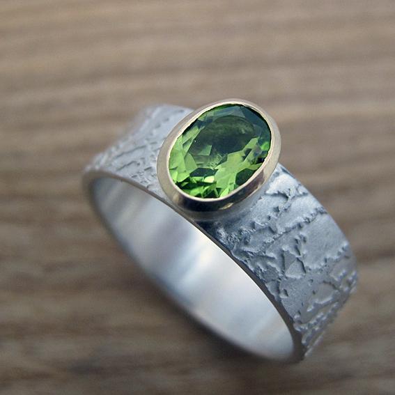 Prairie Ring with peridot.