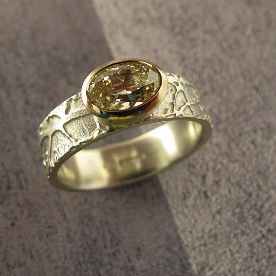 Yellow Diamond Blossom Ring.