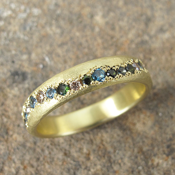 18ct yellow gold pave set eternity ring gemstones organic finish 72.jpg