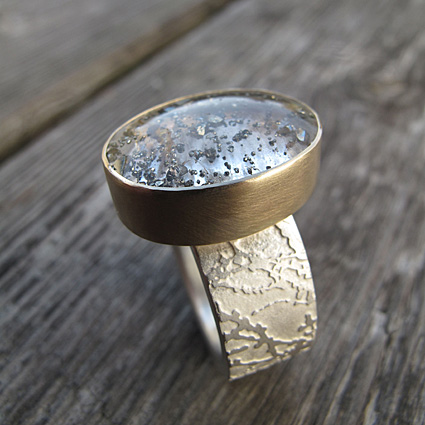 Pyrite in quartz 9ct gold gemstone ring commission .jpg