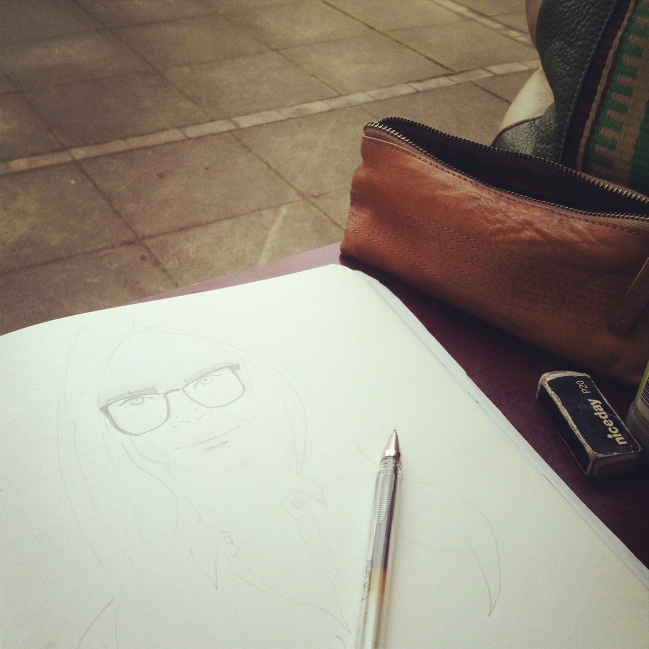 Oh how I love Fridays. Sitting in Bankside @starbucksuk supping a chai latte, people watching & sketching model of the moment @caradelevinge. Wish it was Friday everyday!