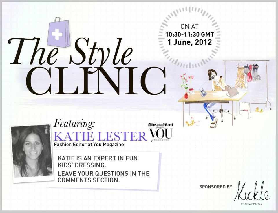 Illustration for the Style Clinic at @alexandalexa featuring @katie_lester_ from @YOUmagsocial in conjunction with their Kickle clothing launch