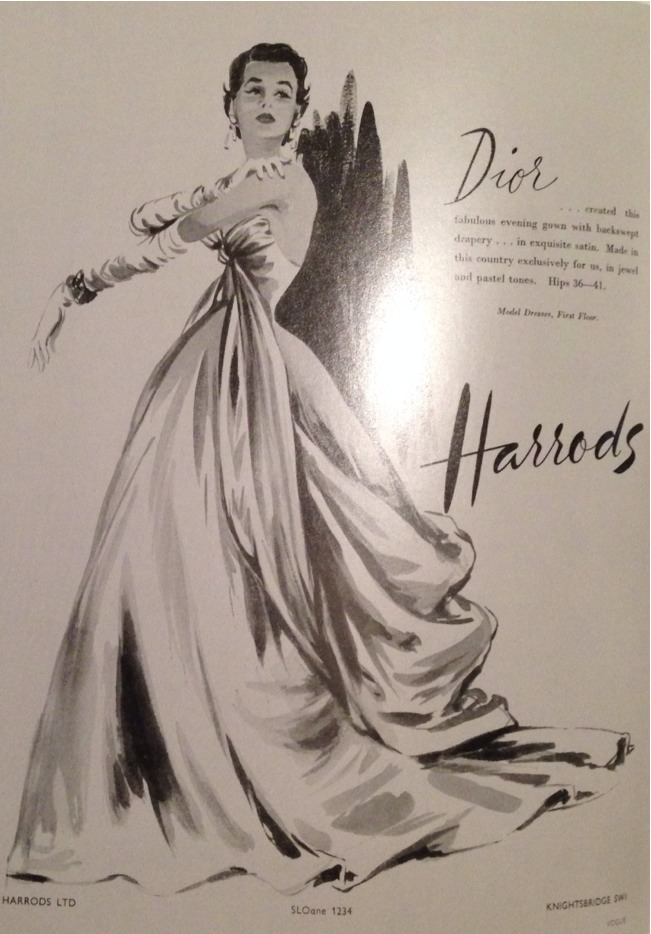 Hugely influenced by 1950's illustration at the moment. They just have such a glamorous feel to them yet still feel so current. This was an advert for @harrods featuring @dior in a 1950's edition of @britishvogue. Beautiful.