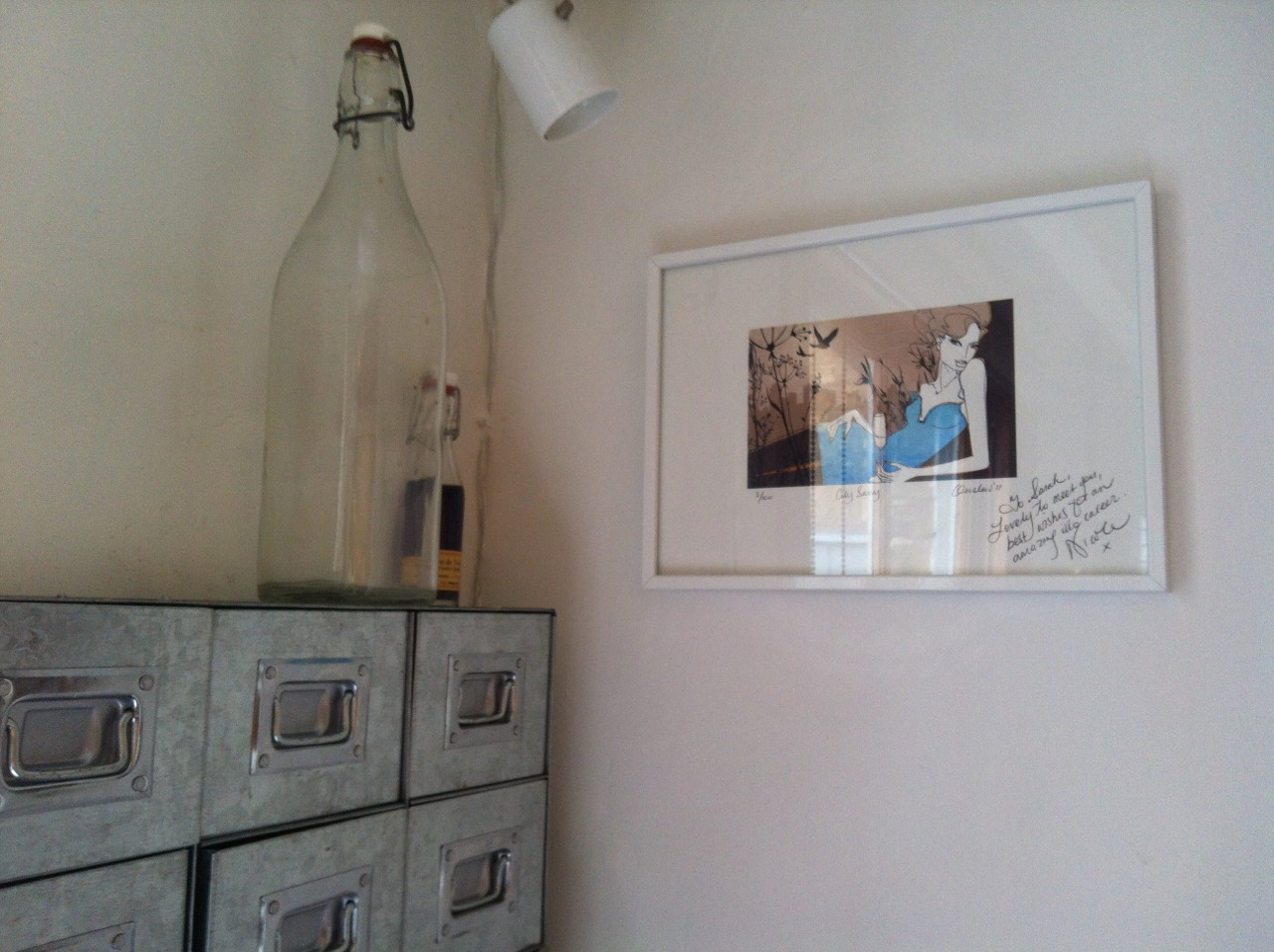 My signed print from the lovely illustrator Nicole Onslow I met in Melbourne has taken prime position in my kitchen