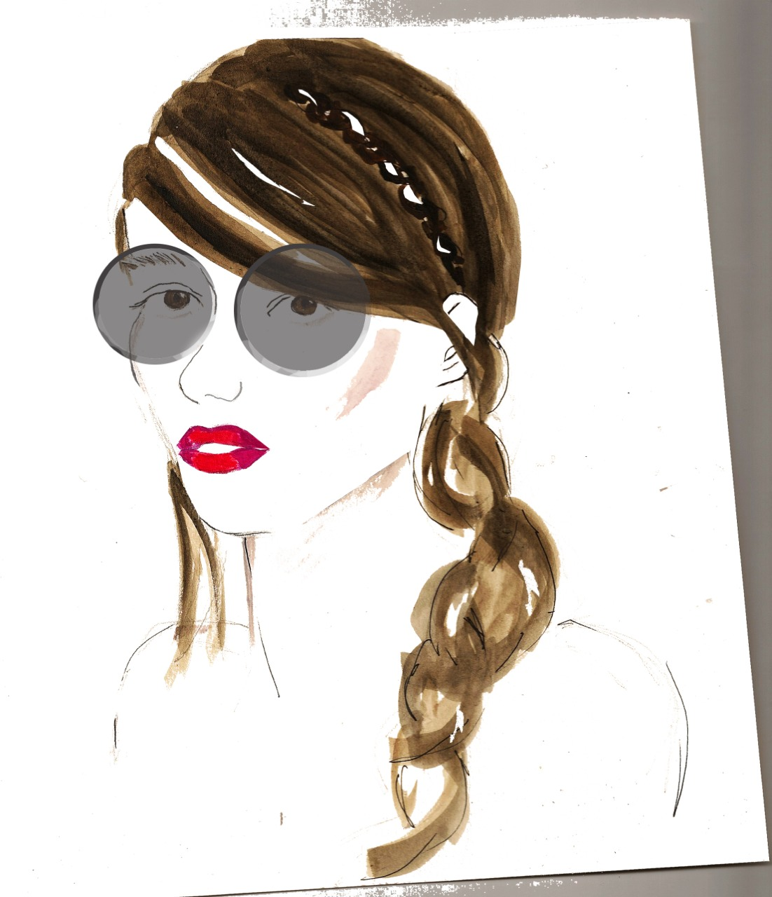 Time for summer lips! I'm hankering after the two tone super pink lips at @STUDIO_FULTON SS13. Cue:sunshine #illustration