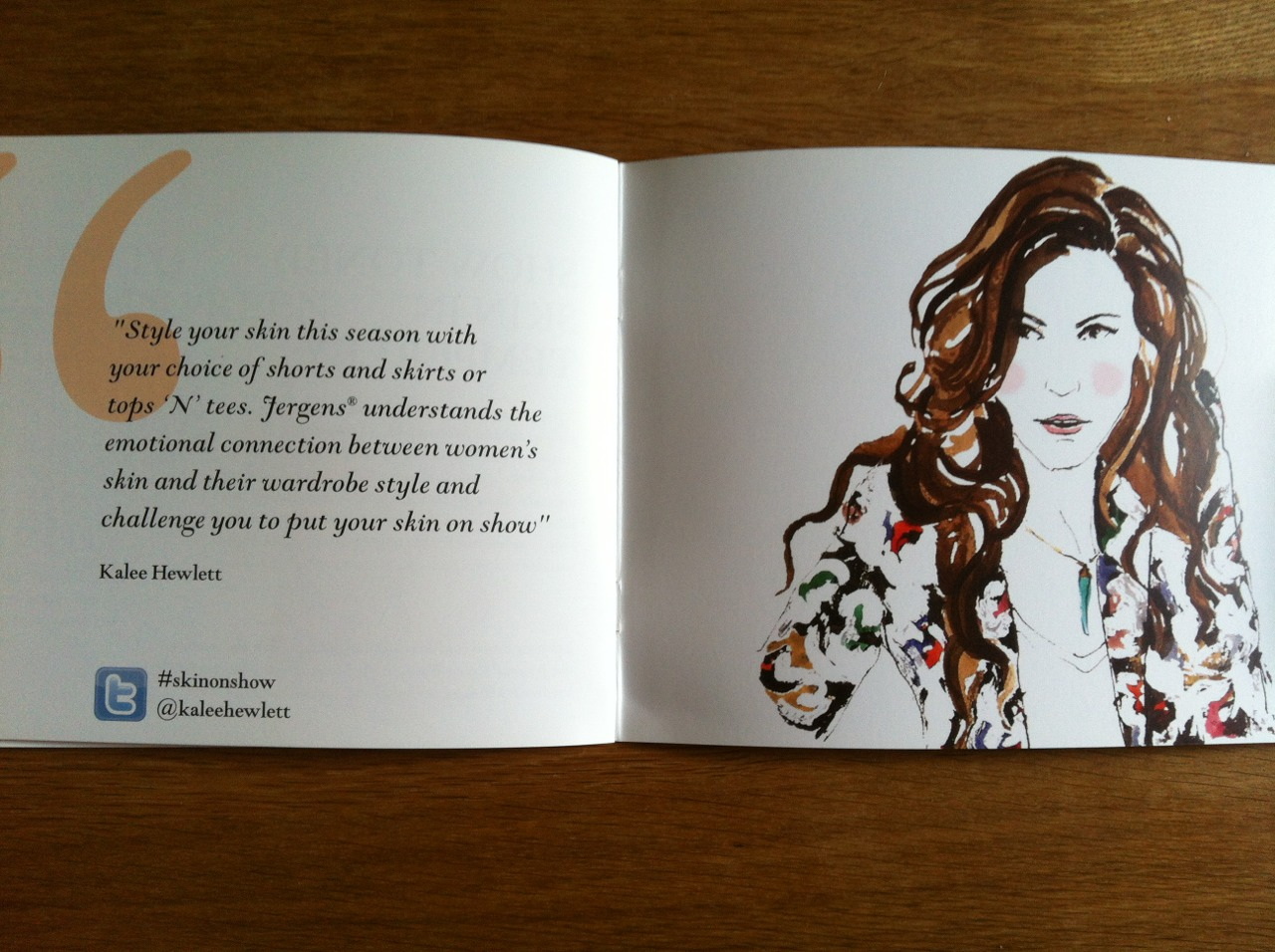 Loved doing this illustration of stylist @kaleehewlett for @jergens. Luckily she has beautiful hair to draw! #skinonshow