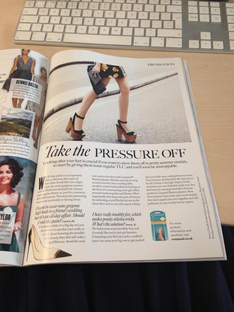 Illo I did recently for a Compeed advertorial in Marie Claire UK
