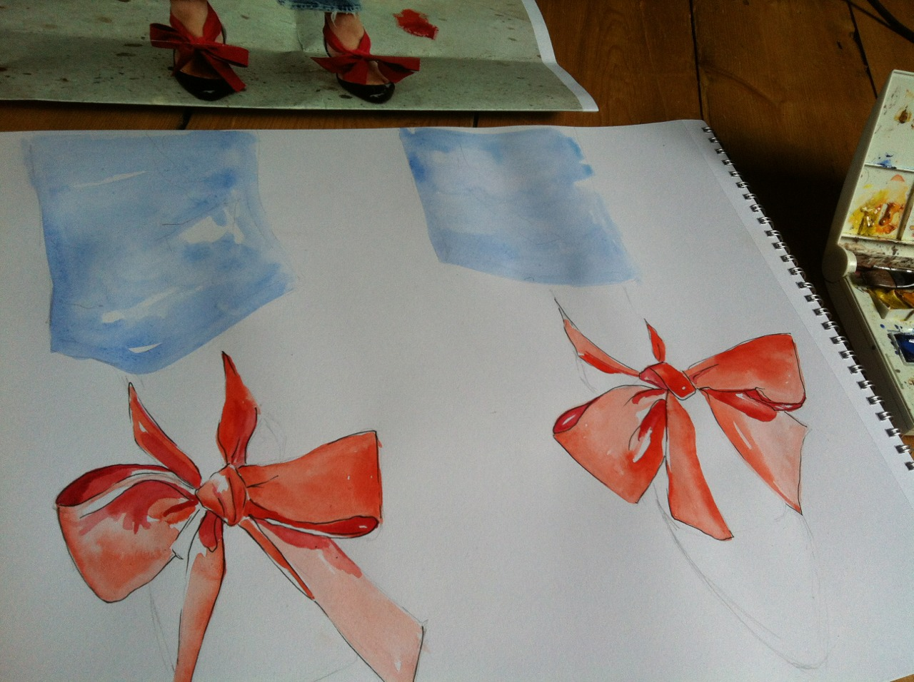 Love these ribbons…. Currently in the making #sundaynightscribbling