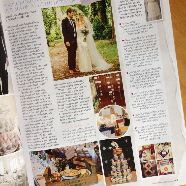 3931241cd1b0 Chuffed to have our wedding featured in You   Your Wedding magazine- our  copy just landed through my front door! Here are a few more illustrated  details we ...