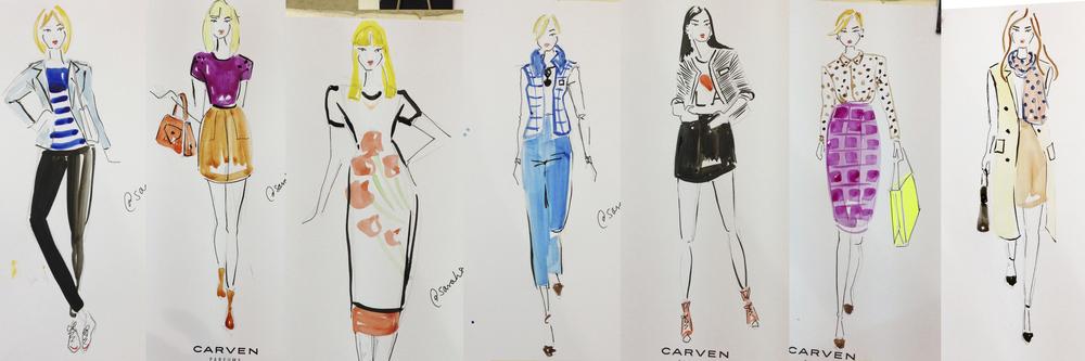 Live Fashion Illustrator Carven