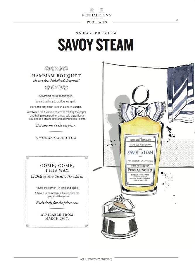 Perfume Illustration for Penhaligon's