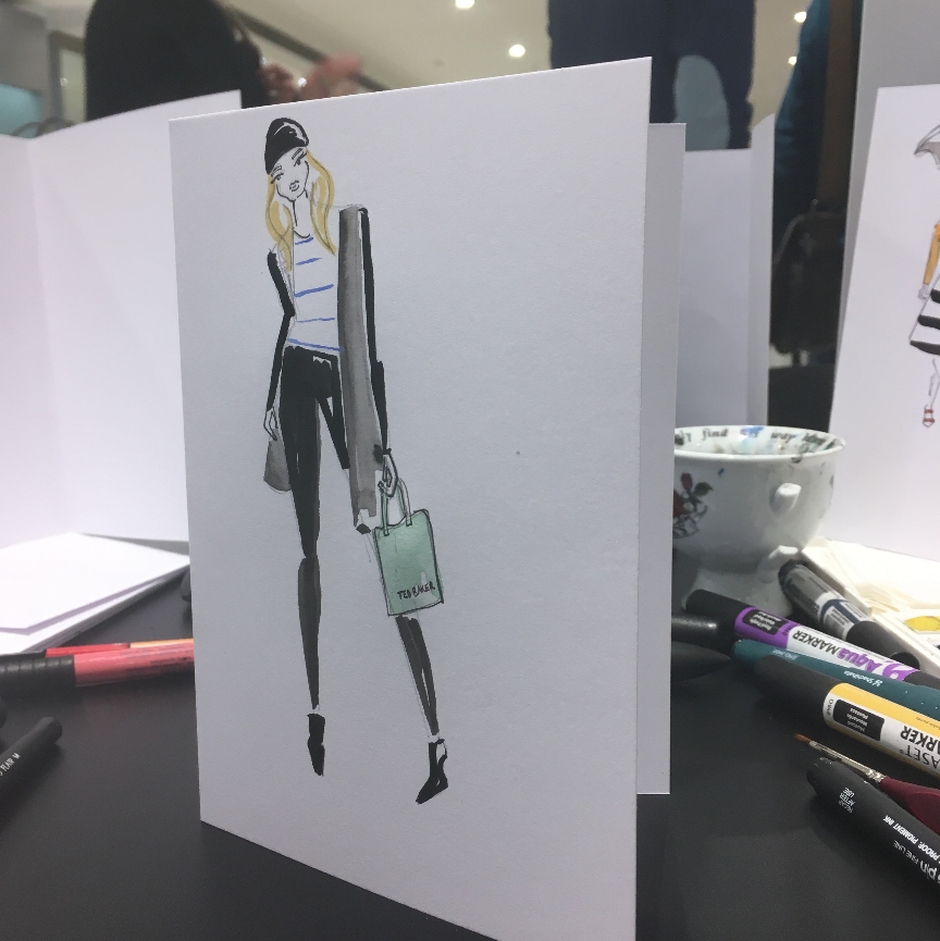 Ted Baker Live Illustration