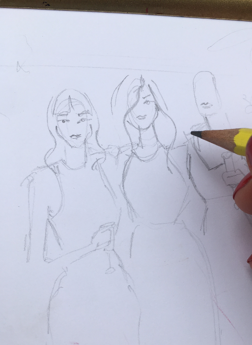 Live fashion sketch