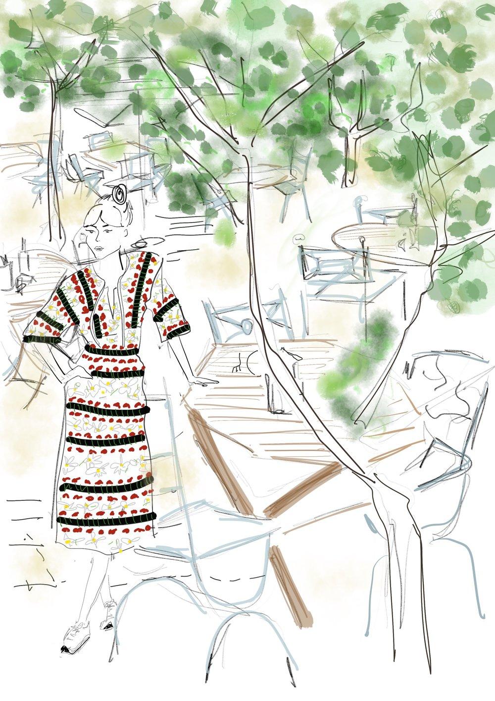 La Paloma illustration ibiza