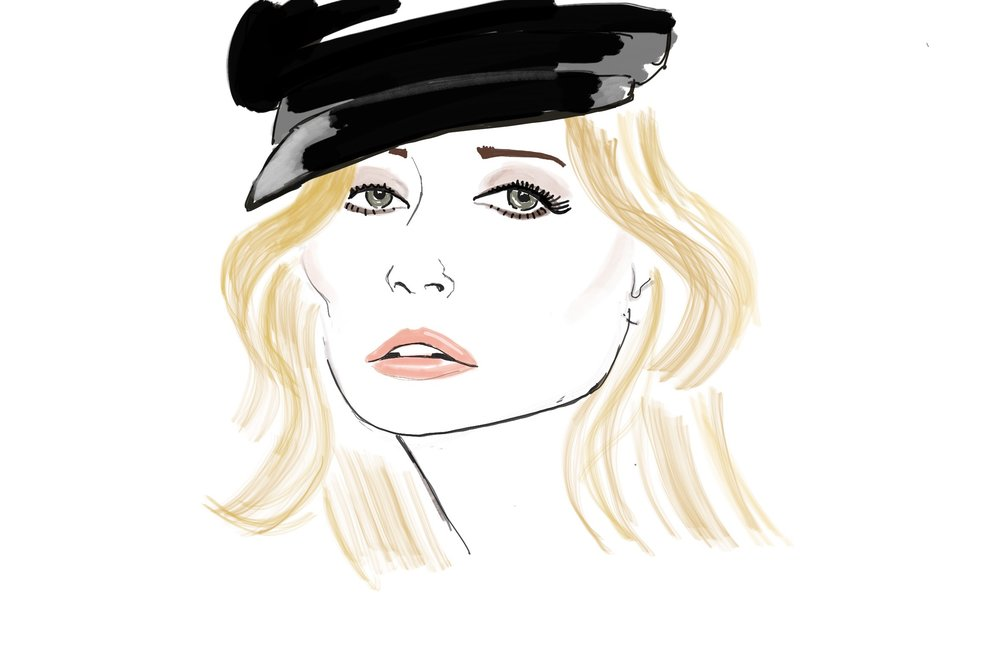 Kate Moss beauty illustration