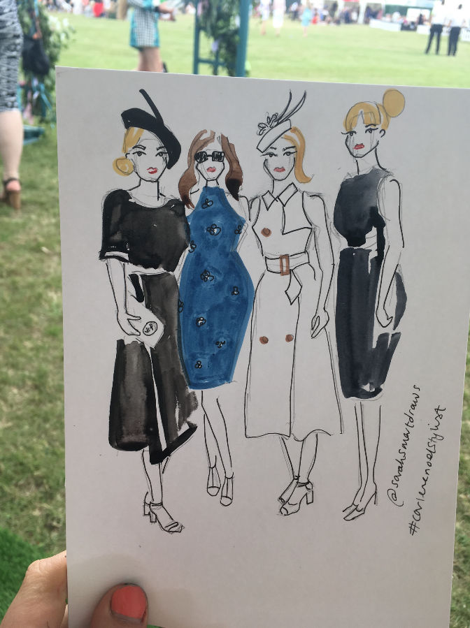 Ladies Day Fashion Illustration