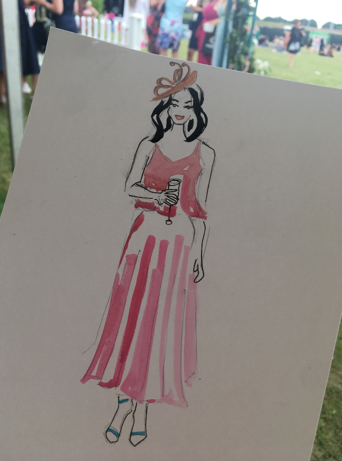 Live Fashion |Illustration, Chelmsford Races
