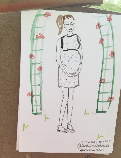 Pregnant Fashion Illustration