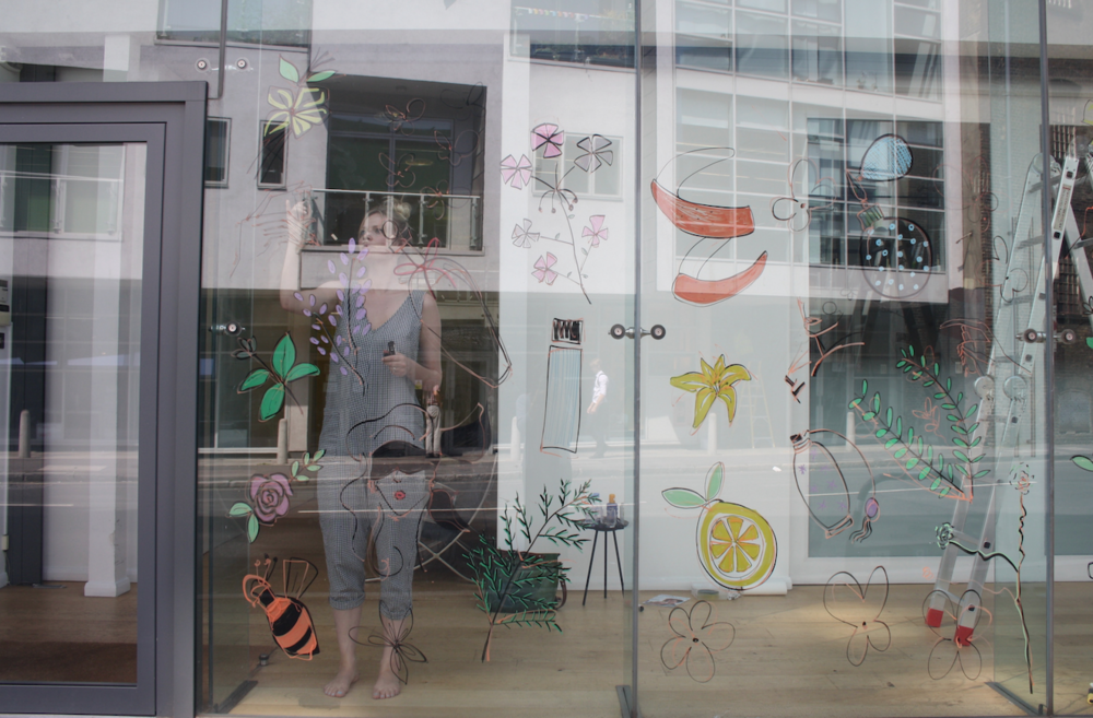 glass window painting london