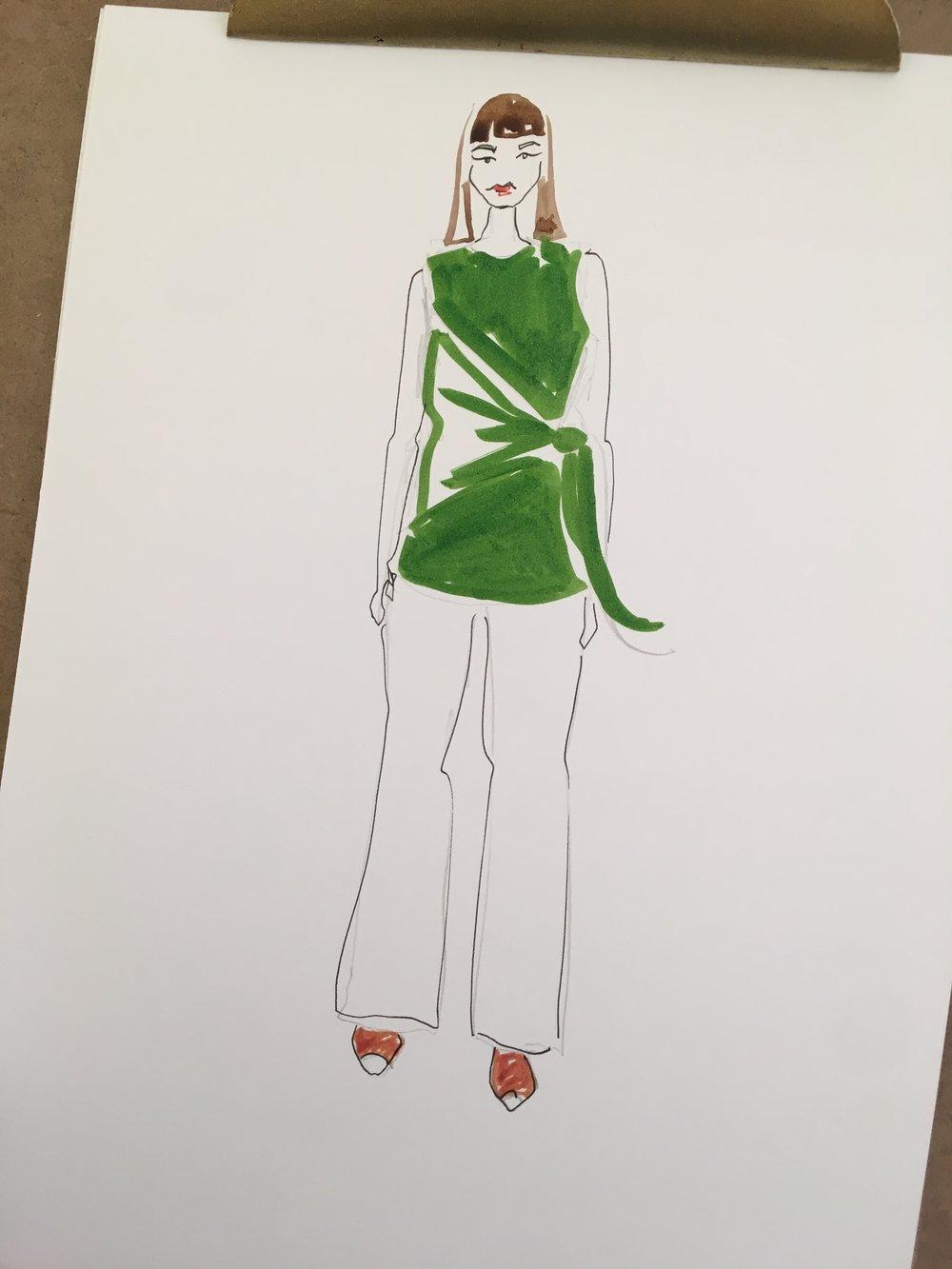 customised fashion portrait