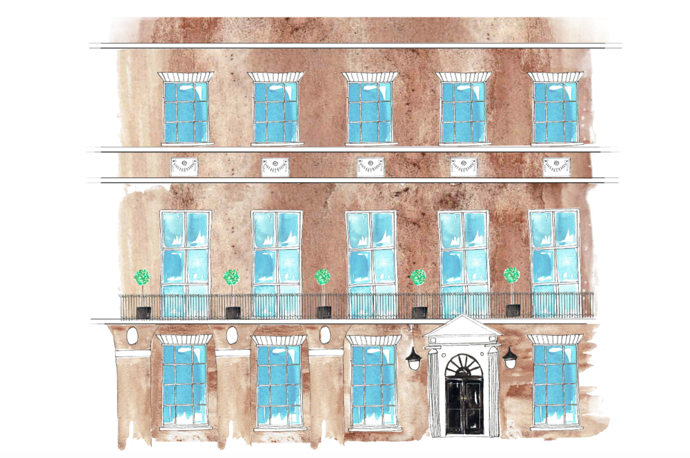 Home House London, Illustrated Wedding Stationary