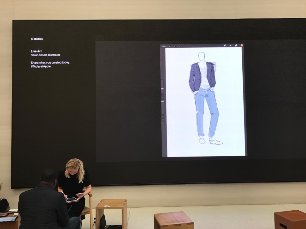 Live Fashion Illustration On iPad