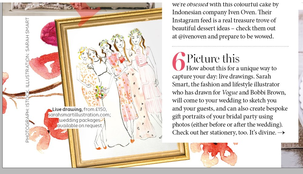 Brides magazine feature