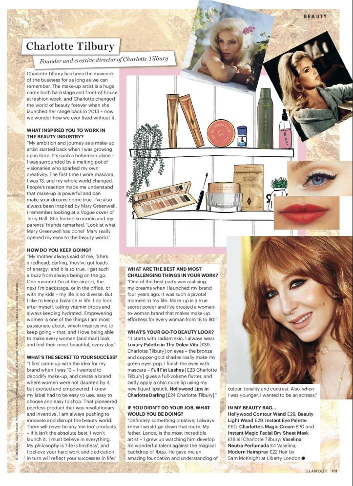 Glamour magazine editorial beauty illustration