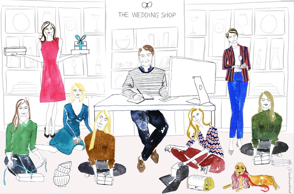 The Wedding Shop Illustration