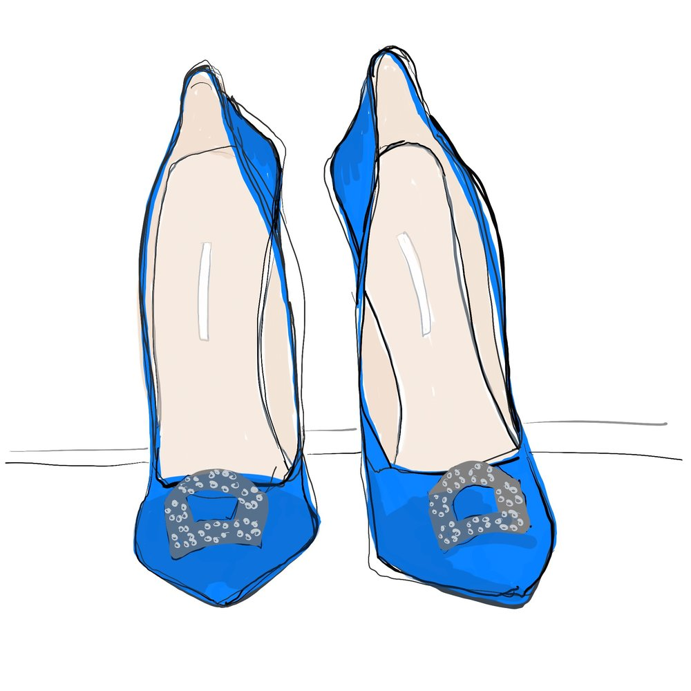 ipad fashion illustration Manolo Blahnik