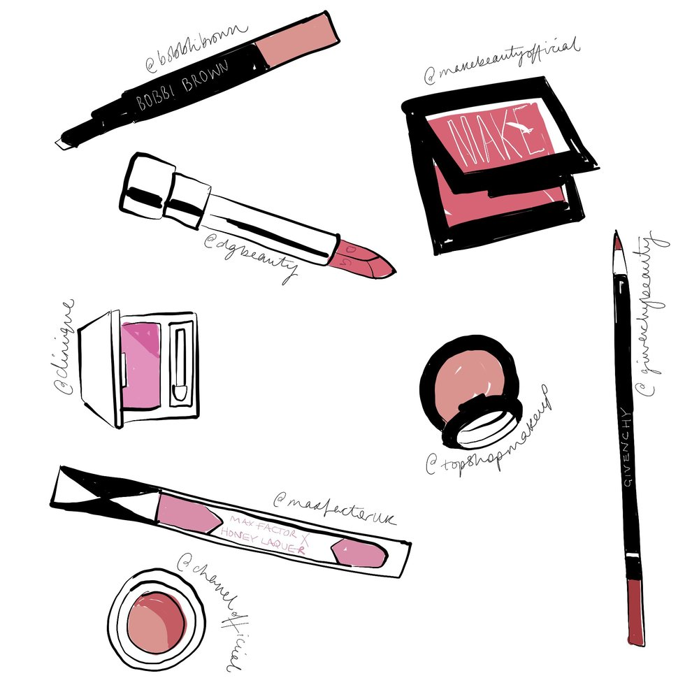 beauty products illustration