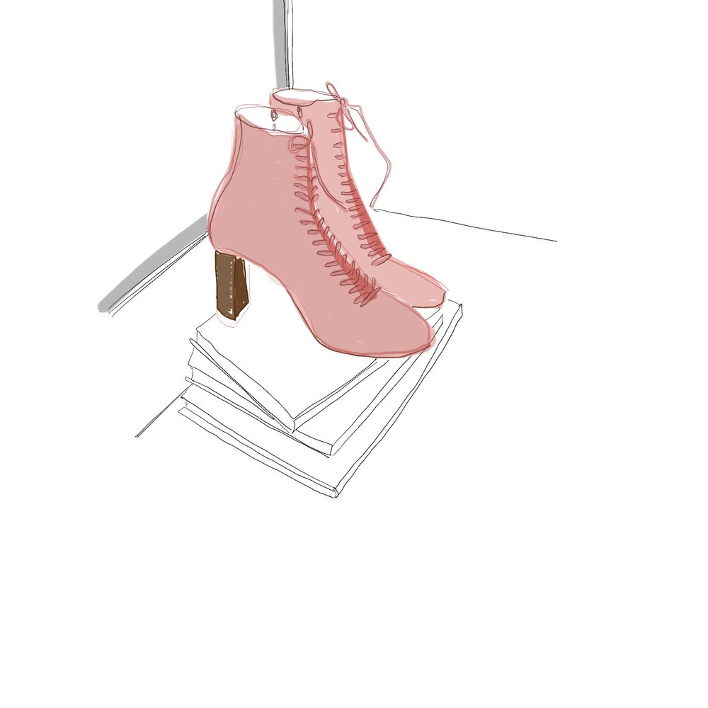 ipad shoe illustration