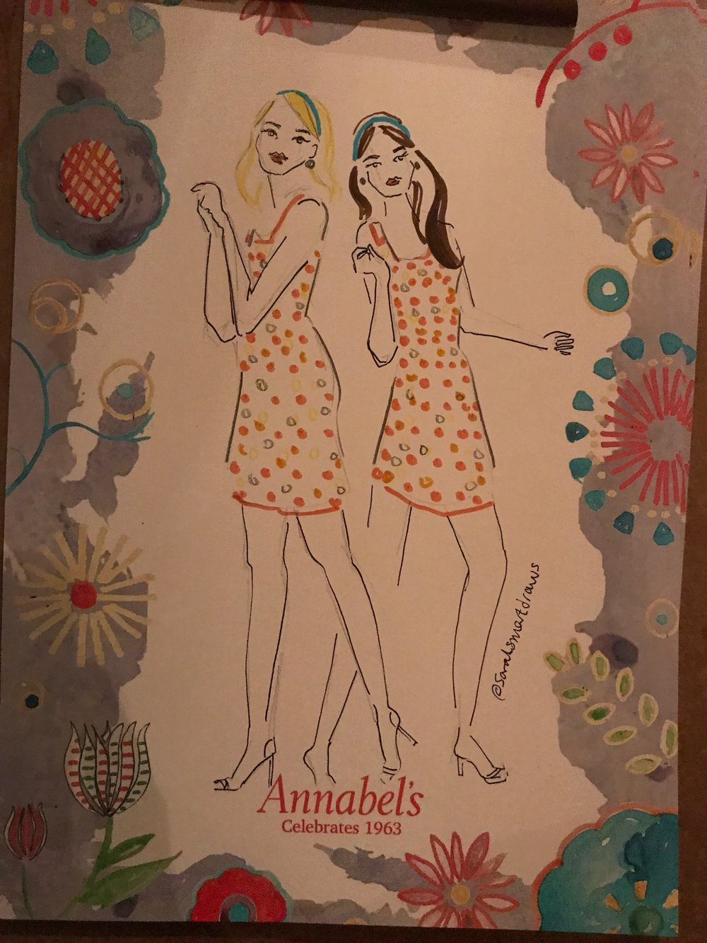 Live Illustration Event at Annabel's