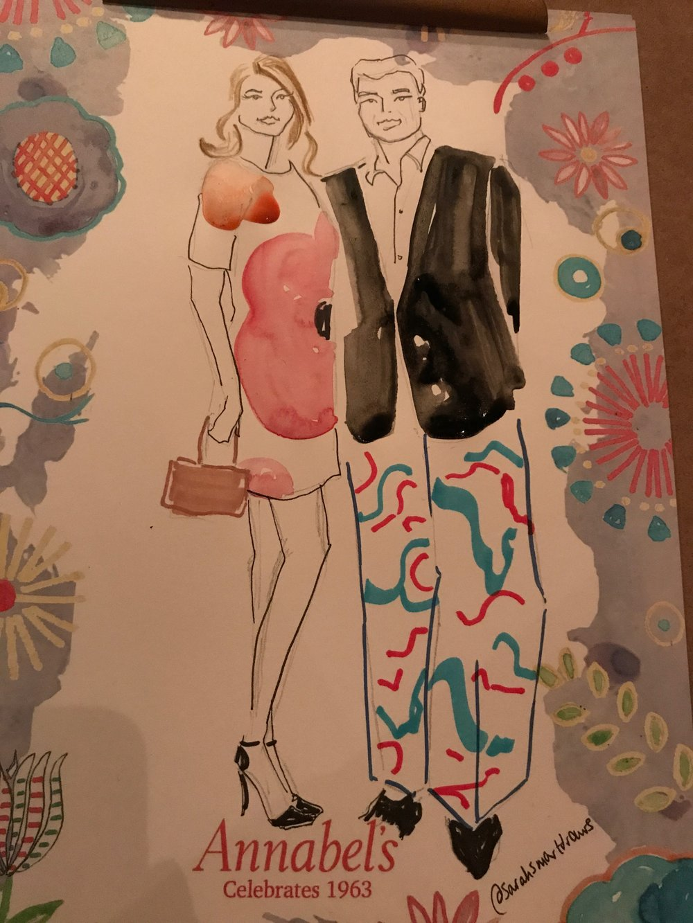 Live Fashion  Illustration Event at Annabel's